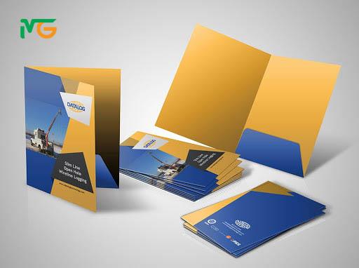 Mẫu thiết kế folder 1 túi đựng tài liệu - mẫu folder phổ biến nhất hiện nay