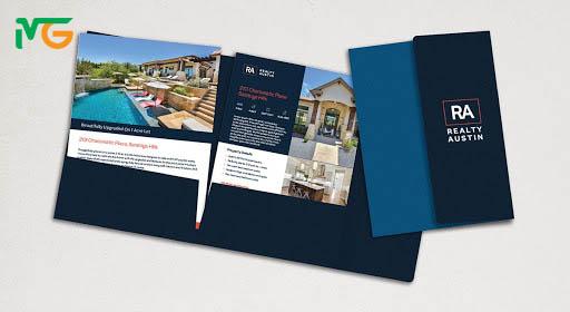 Mẫu thiết kế folder gấp 3 thường được sử dụng trong các đợt quảng cáo, các dịp đặc biệt của công ty